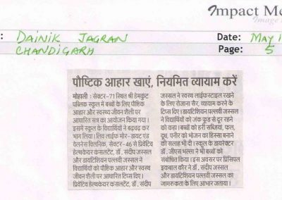 May 18_Hemkunt_Medical Talk Dainik Jagran_page 5