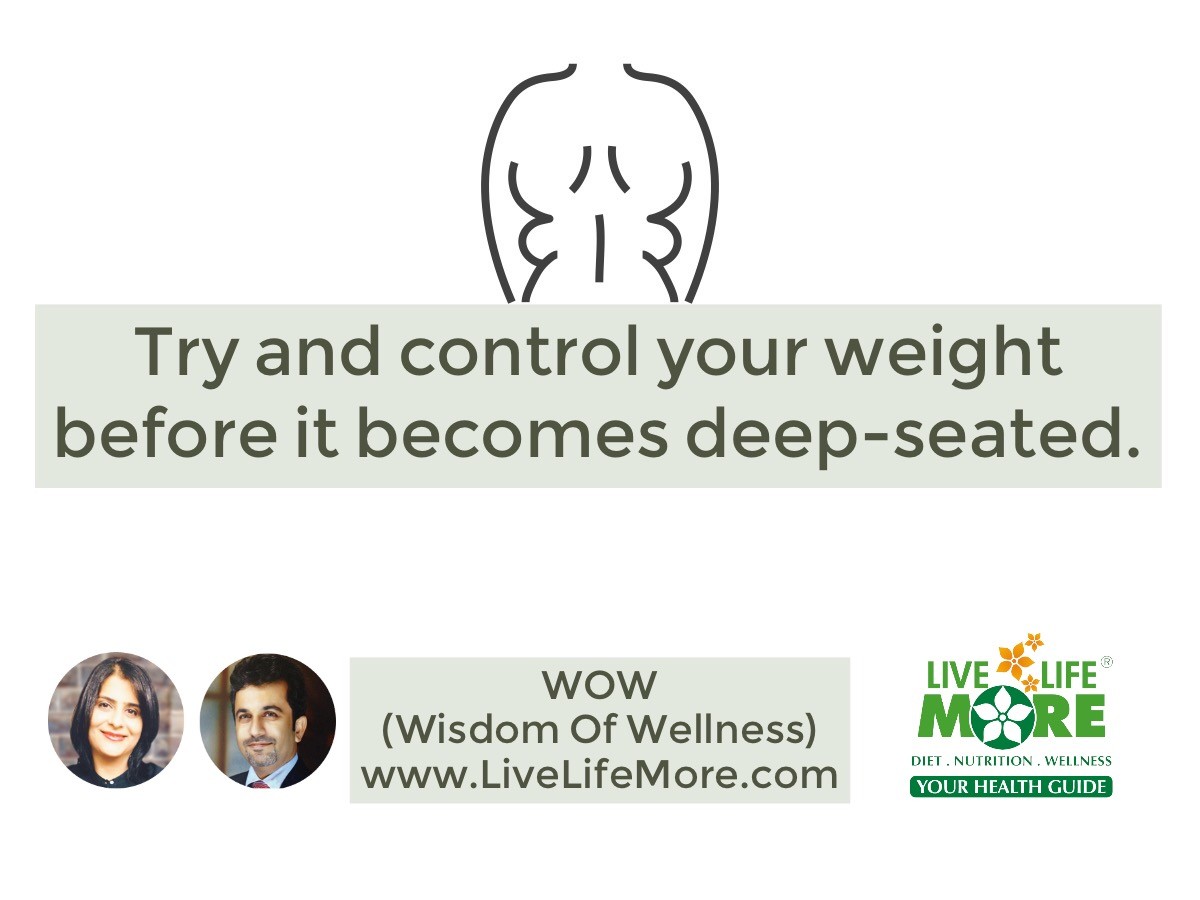 Try and control your weight before it becomes deep seated – WOW (Wisdom Of Wellness)