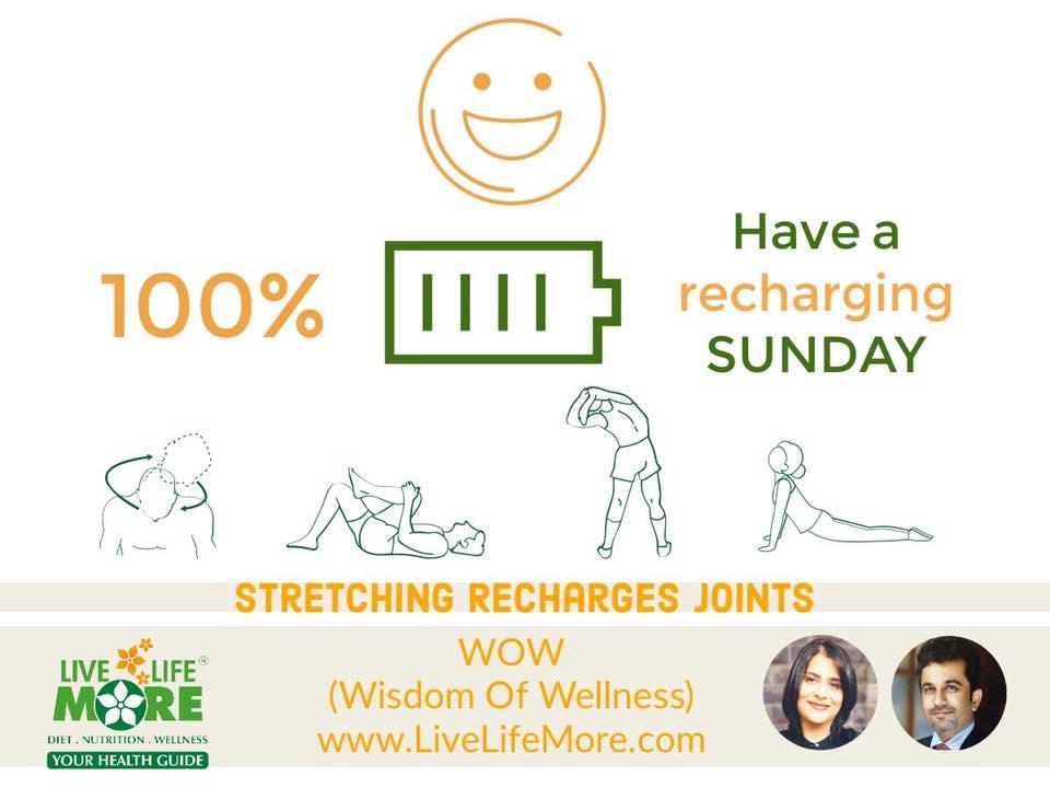 Stretching – WOW (Wisdom Of Wellness) by www.LiveLifeMore.com