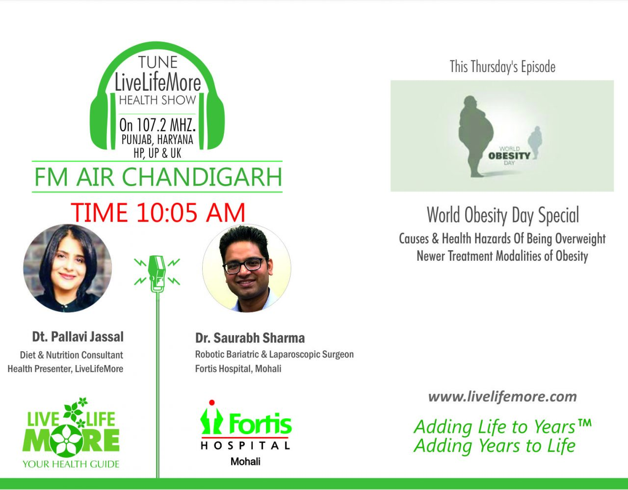 LiveLifeMore Health Show on Obesity by Dietitian Pallavi Jassal with Dr Saurabh Sharma