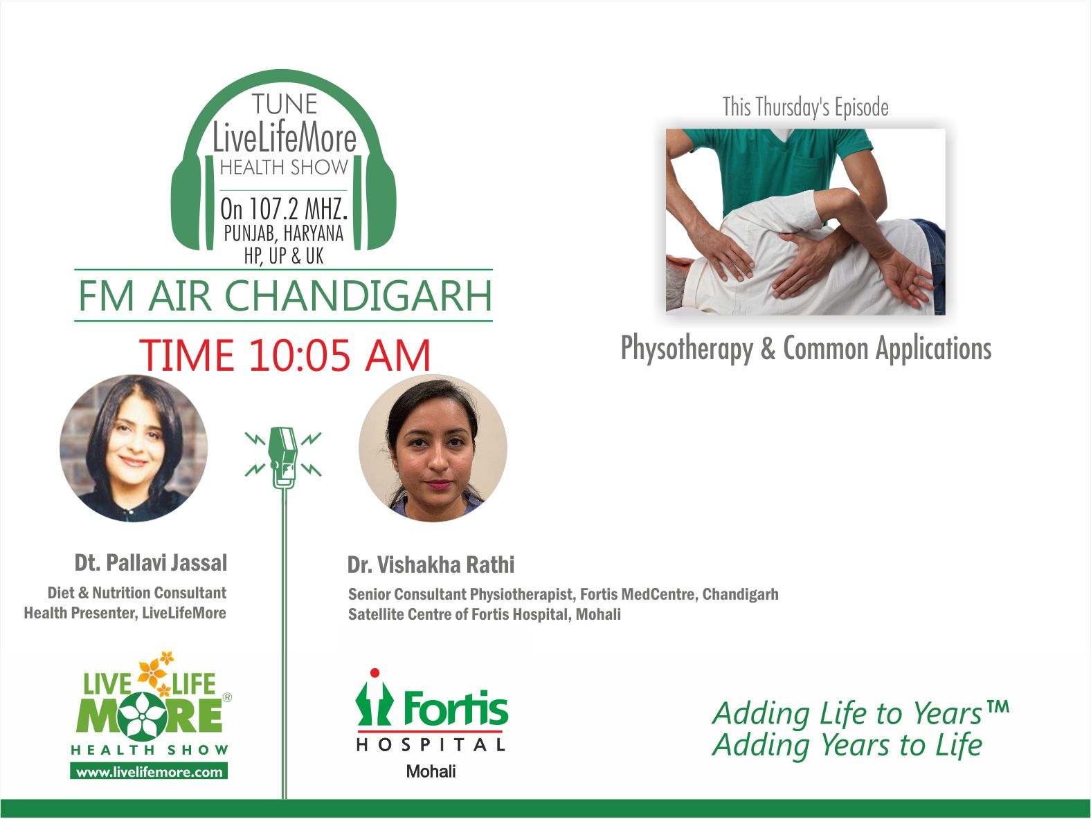 Dr Vishakha Rathi - Live Life More Physiotherapy & Common Applications
