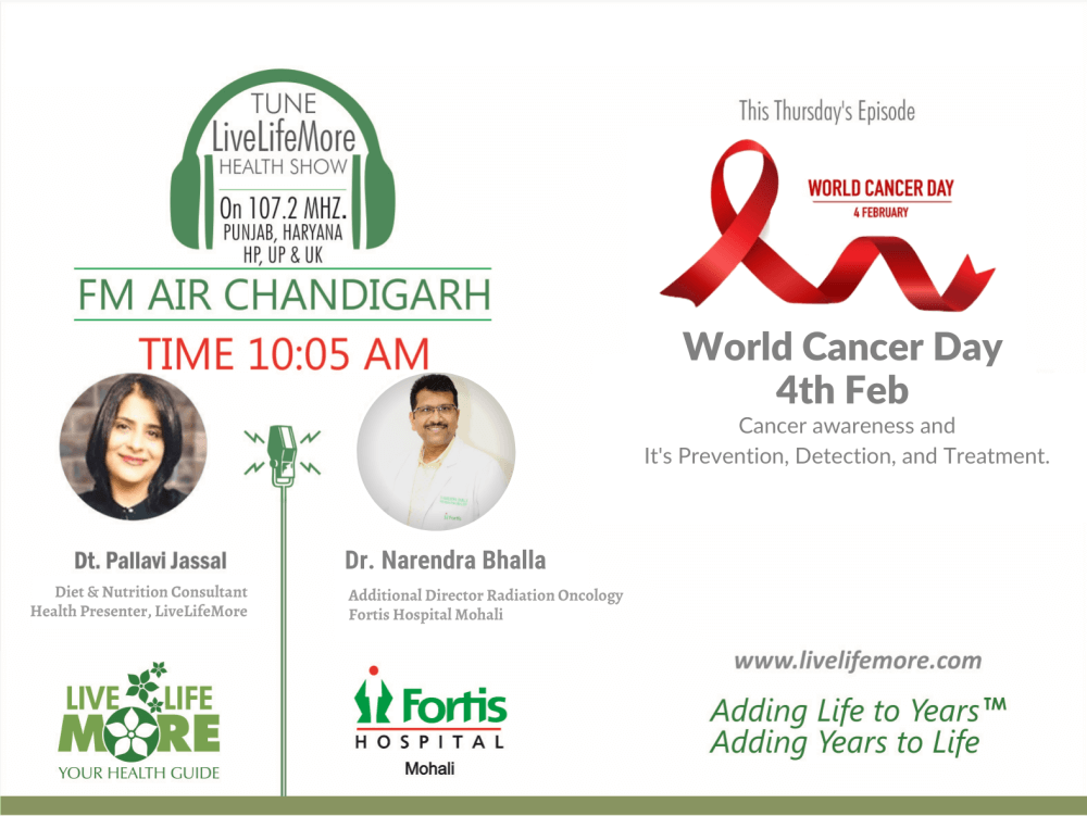 Live Life More Show – World Cancer Day, 2020 with Dr. Narendra Bhalla