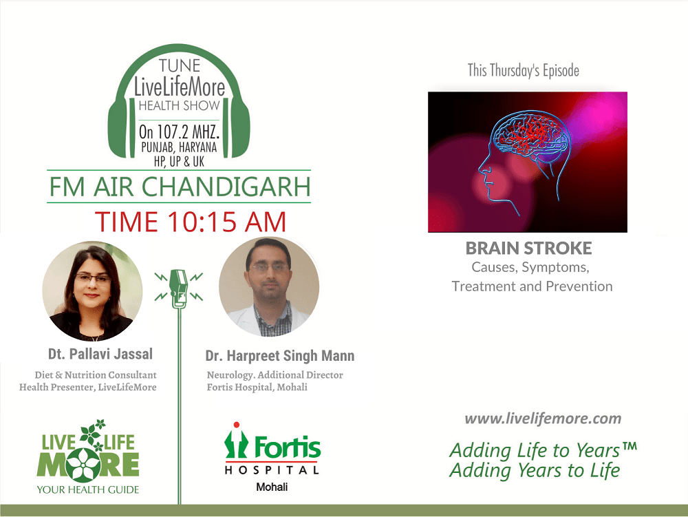 Live Life More Show –  Brain Stroke – Causes, Symptoms, Treatment and Prevention with Dr Harpreet Singh Mann