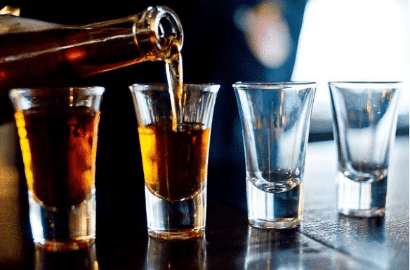 cut back on your alcohol and drink