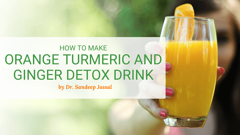 How To Make Orange Turmeric and Ginger Detox Drink