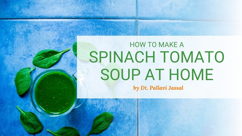 How to make spinach tomato soup recipe